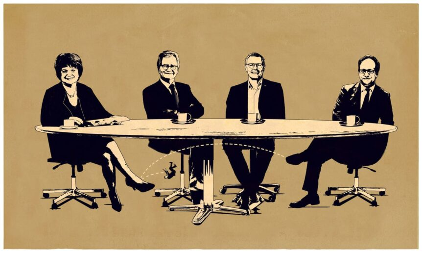 Illustratie bij column Roos Wouters in Volkskrant