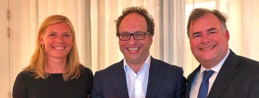Roos Wouters, minister Koolmees en Hans Biesheuvel